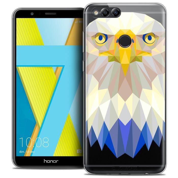 Coque Gel Honor 7X (5.9 ) Extra Fine Polygon Animals - Aigle