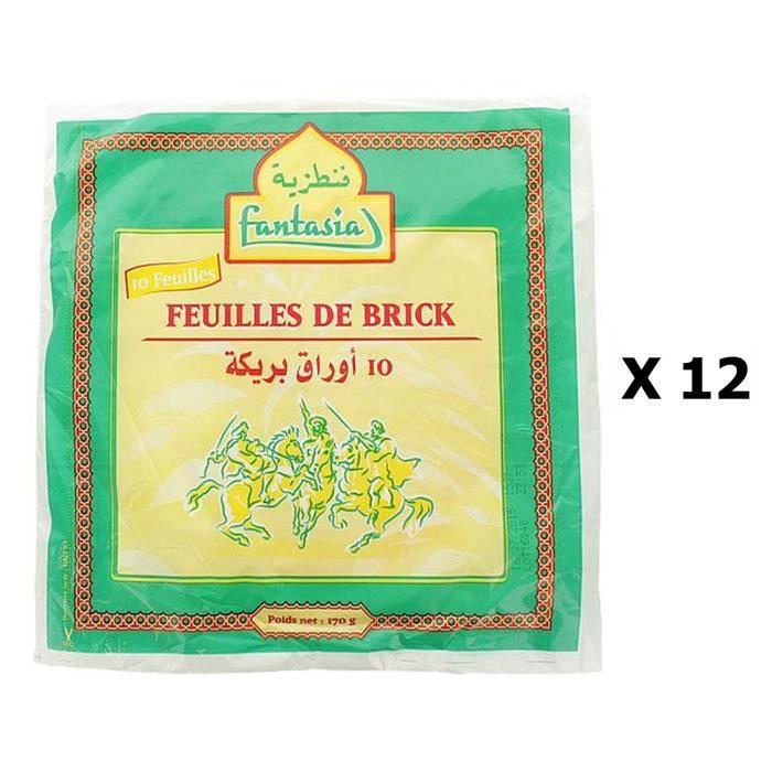 Lot 12x Feuilles de brick x10 - Fantasia - paquet 170g