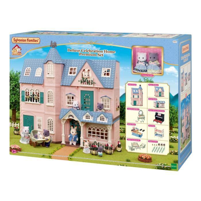 SYLVANIAN FAMILIES - Le Coffret Maison 5504 + 2 figurines + Ameublement - Les maisons