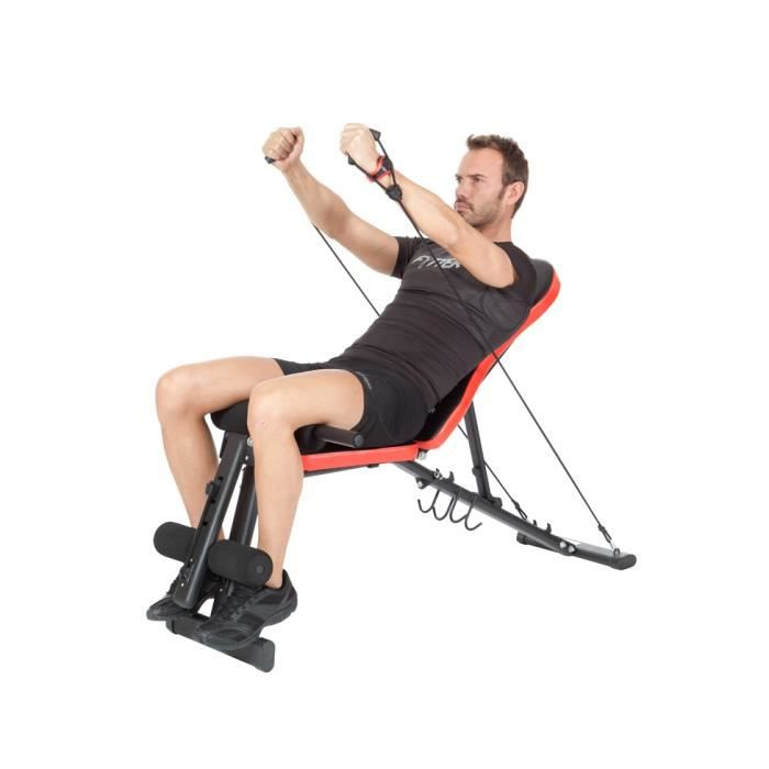 FYTTER Banc de musculation pliable BE-03R multi excercices et multi-positions.