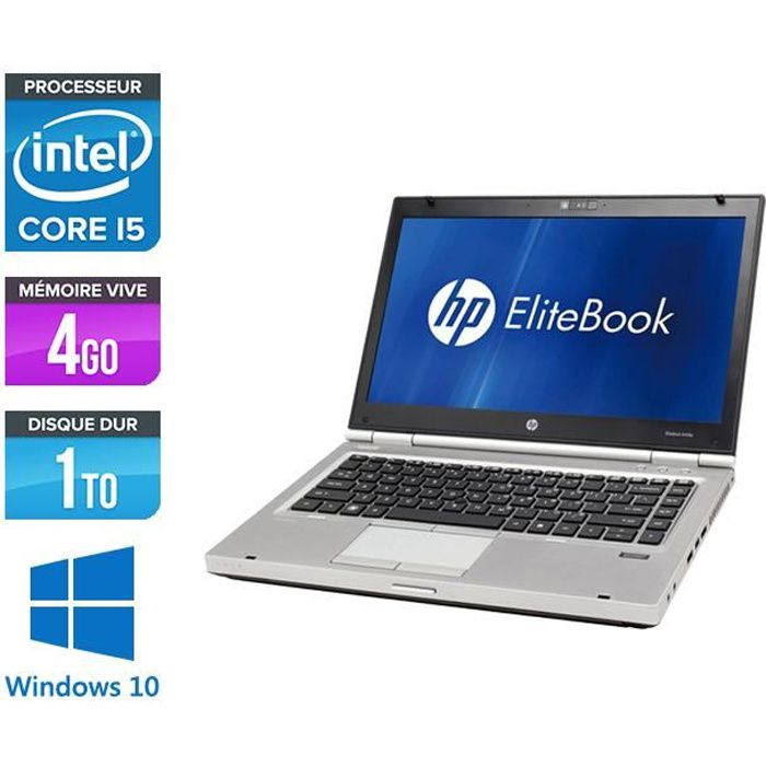 Pc portable Hp Elitebook 8460P i5 4Go 1 To Windows 10