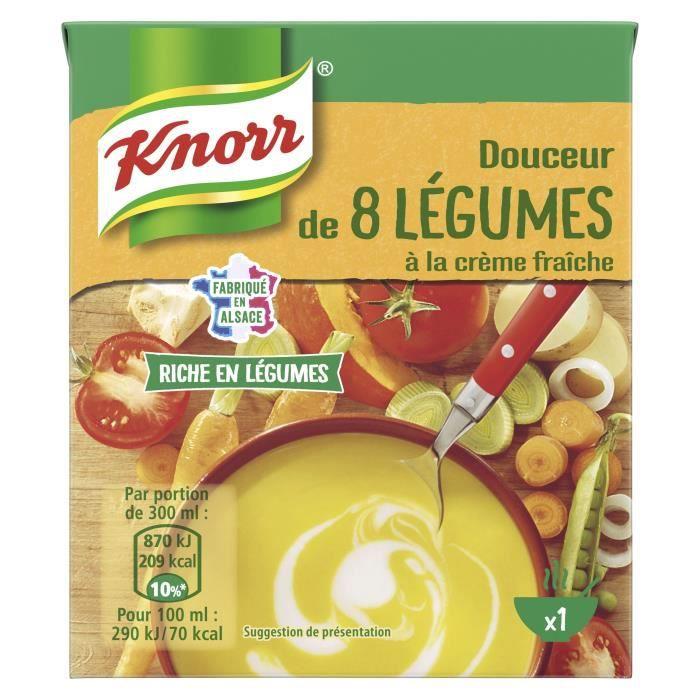 KNORR Soupe Douceur de 8 Légumes à la Crème Fraîche - 30 cl