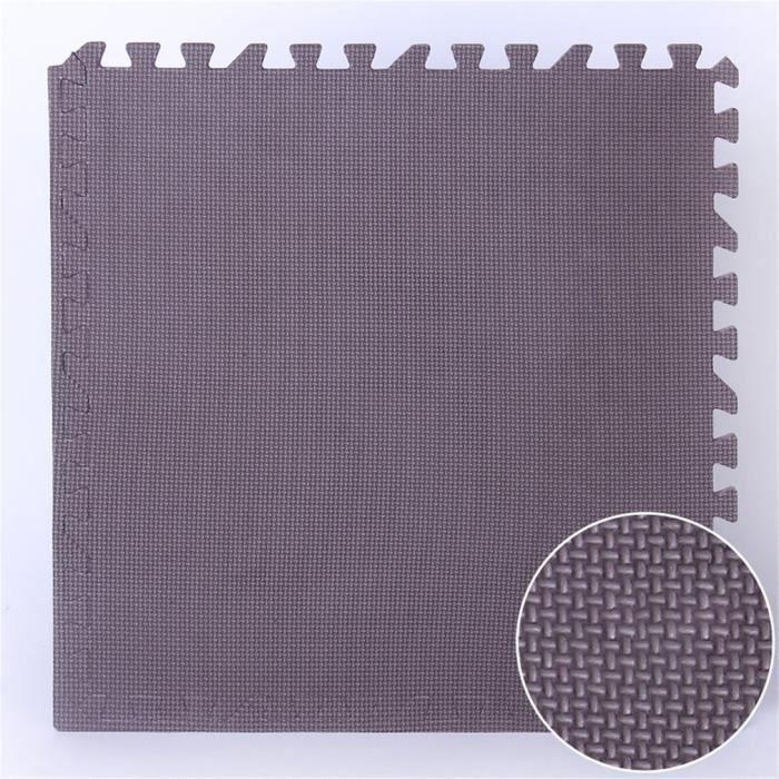 25 pcs Dalle EVA mousse Tapis de sol Tapis GYM Tapis de chambre Tapis anti-choc protection bébé tapis - 30*30cm - café