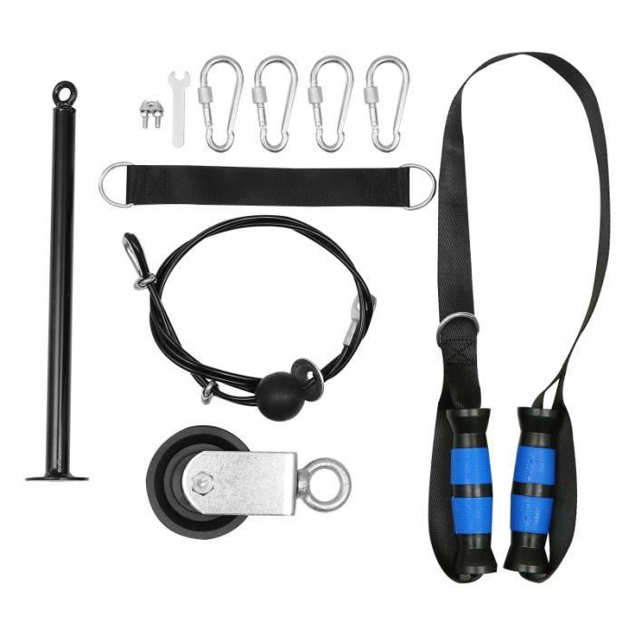 1 ensemble de système de poulie utile de de de bras triceps équipement de remise en barre - haltere - poids fitness - musculation