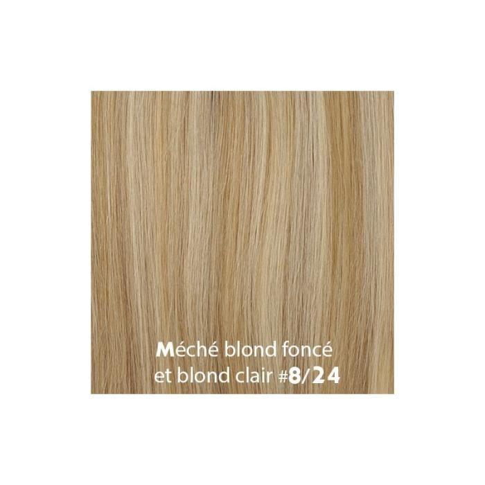 Extensions à froid Cheveux Easy Loops 100 mèches 0,8gr Méché Noisette Clair et Blond Clair 50cm