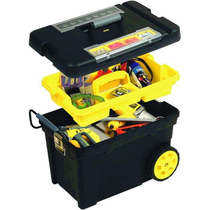 Stanley coffre à outils roulant avec plateau amovible.