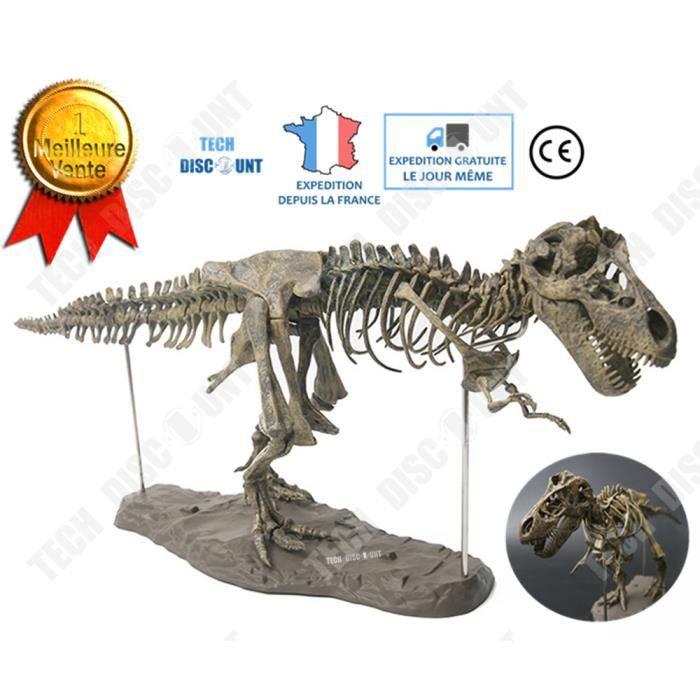 TD® squelette Dinosaure à assembler réaliste enfant jouet jurassic world anniversaire Tyrannosaure fossile os simulation éducatif