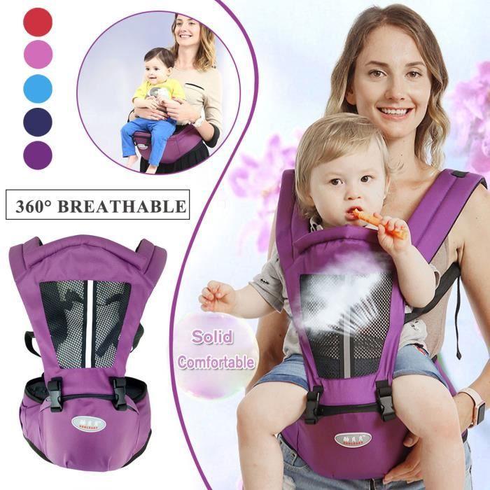 TEMPSA 0-36 Mois Porte-bébé Réglable 360° Respirant Sac De Rangement Multifonctionnel Pour Vacances Violet