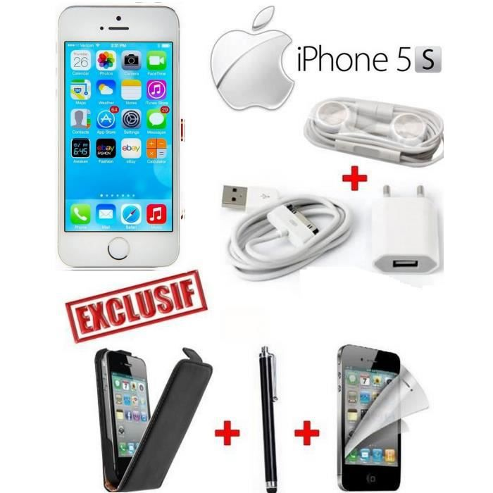 apple iphone 5s silver etui film stylet achat. Black Bedroom Furniture Sets. Home Design Ideas