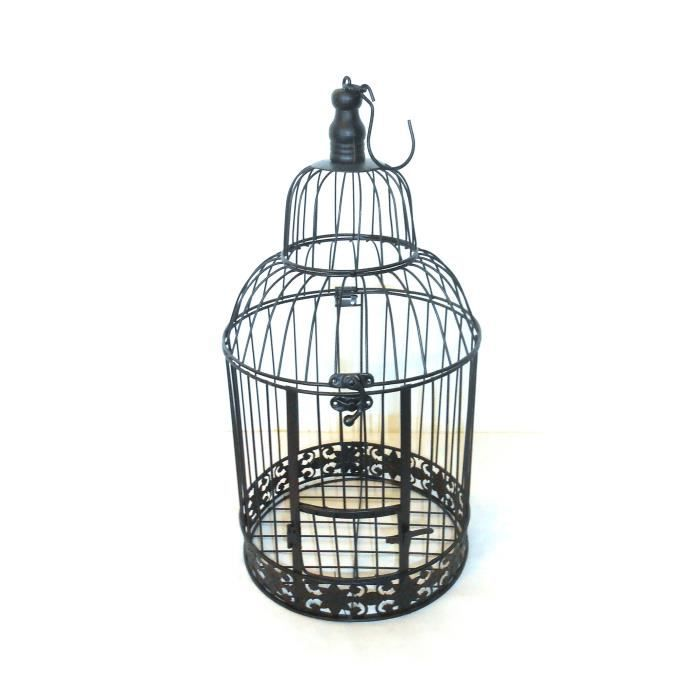 cage oiseaux perchoir fer forg patin 38x19 cm achat vente jardini re pot fleur cage. Black Bedroom Furniture Sets. Home Design Ideas