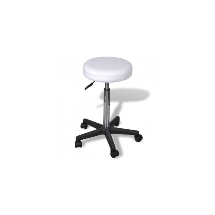 tabouret de bureau blanc achat vente chaise de bureau blanc cdiscount. Black Bedroom Furniture Sets. Home Design Ideas