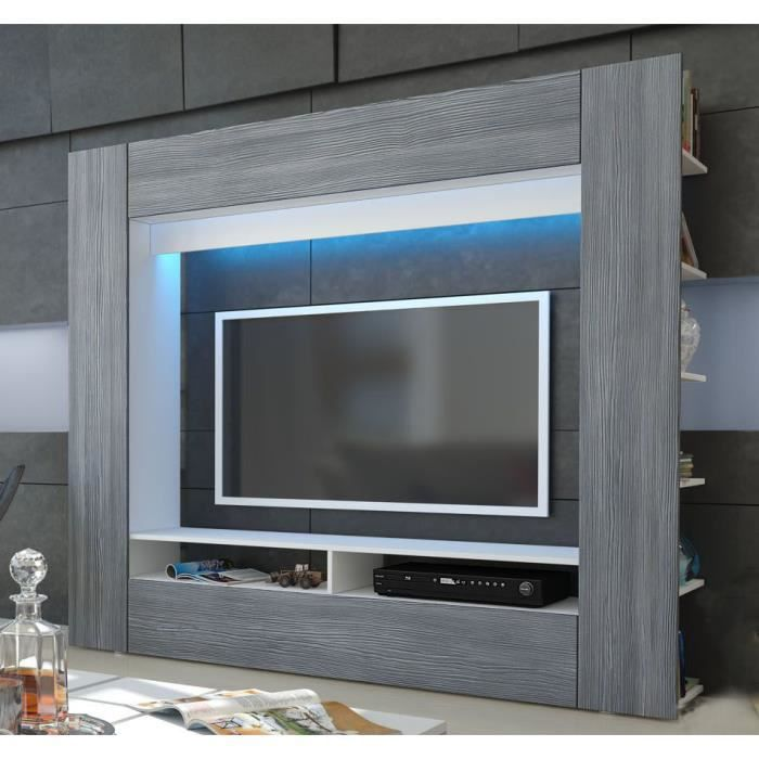 Meuble tv mural blanc et anthracite achat vente meuble tv meuble tv mural blanc et an - Meuble tv mural cdiscount ...