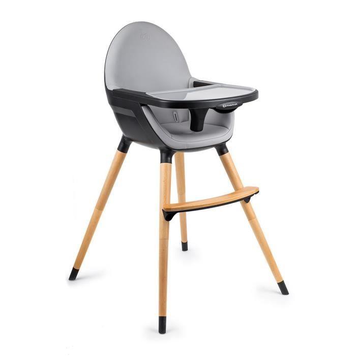 kinderkraft chaise haute bebe evolutive 2 en 1 plateau reglable tablette amovible noir