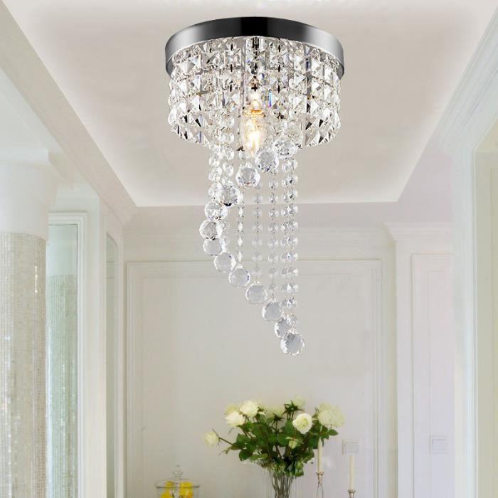 Plafonnier Lampe Cristal Lampe De Plafond Lustre Moderne En Cristal Pour Salon Chambre à Coucher