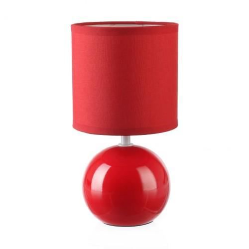 lampe ceramique boule rouge achat vente lampe ceramique boule rouge c ramique cdiscount. Black Bedroom Furniture Sets. Home Design Ideas