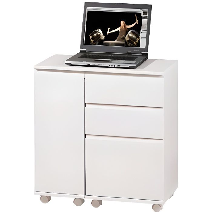 bureau laptop office sur roulettes 3 t 1 p achat. Black Bedroom Furniture Sets. Home Design Ideas