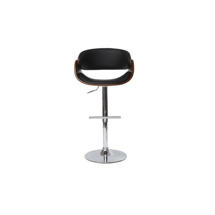tabouret de bar design noir et bois dios achat vente tabouret de bar cdiscount. Black Bedroom Furniture Sets. Home Design Ideas