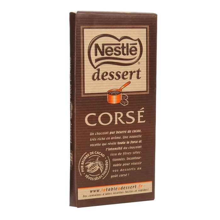 Nestle dessert tablette de chocolat cors 200g achat for 1 tablette de chocolat