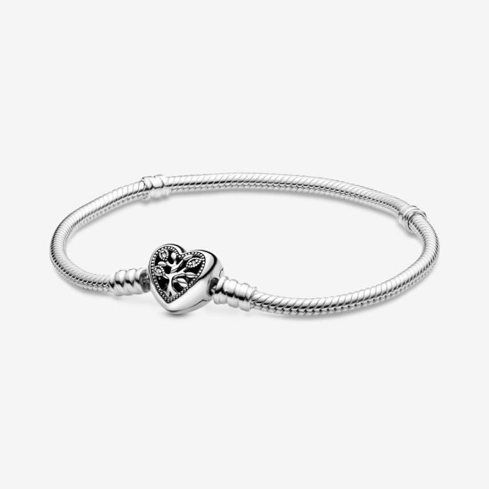 Authentique Chaîne Dorée Bracelet avec Cœur Fermoir Charme Serpent Acier Lien Femme 2020