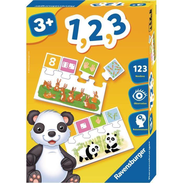 RAVENSBURGER - 24045 - Jeux de Société Educatif 1, 2, 3 - Achat / Vente jeu d'apprentissage ...