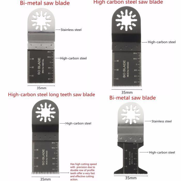 Pro 38 X Mix Oscillant Multi Outils Scie Lames Pour Bosch Fein Multimaster Makita