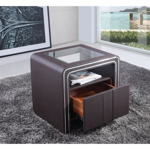 table de chevet achat vente table de chevet pas cher les soldes sur cdiscount cdiscount. Black Bedroom Furniture Sets. Home Design Ideas