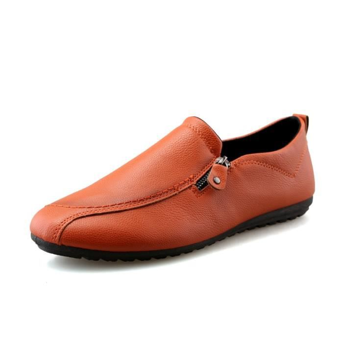 British Simple Slip-on Respirant Chaussures en cuir pour homme