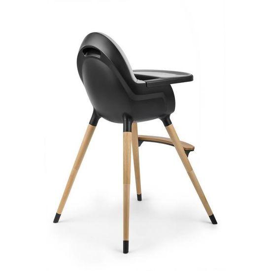 chaise haute noire bebe