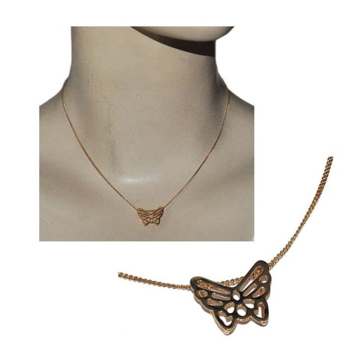 "Femme Fleur Collier Pendentif 18k or jaune REMPLI 18/"" Chaîne Fashion Jewelry"