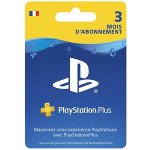 CARTE MULTIMEDIA Abonnement Playstation Plus 3 Mois