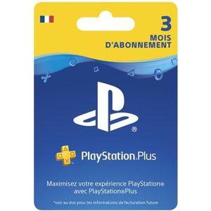 CARTE PRÉPAYÉE Abonnement Playstation Plus 3 Mois