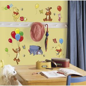 WINNIE l'ourson Stickers Muraux Enfant (4 Planches Repositionnables)