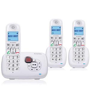 Téléphone fixe Alcatel XL385 Voice Trio Blanc