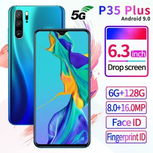 SMARTPHONE p35 plug 5G Smartphone Android 9.1 6.3 pouces HD +