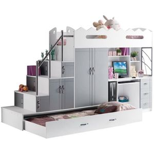 lit mezzanine adolescent achat vente lit mezzanine adolescent pas cher cdiscount. Black Bedroom Furniture Sets. Home Design Ideas