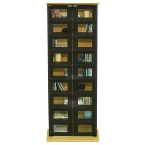 manhattan armoire de rangement hetre cd dvd 2 p achat vente meuble range cd manhattan. Black Bedroom Furniture Sets. Home Design Ideas