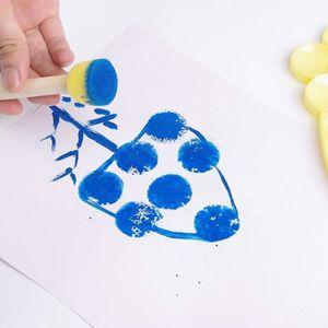 Kit de Pinceaux,Pinceau Brosses Diverses Brosse /Éponge Rouleau EVA Creative DIY Aquarelle Peinture Dessin Ensemble Jouets,29 pcs Outils de Peinture pour Enfant.