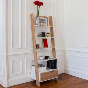 ETAGÈRE MURALE IDMARKET Étagère échelle scandinave en bois - Blan