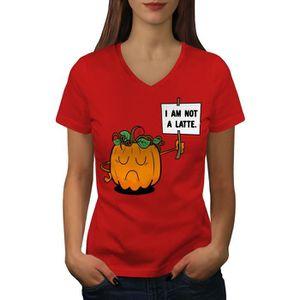 T-SHIRT Citrouille Latté ne pas Women  T-shirt à sonnerie