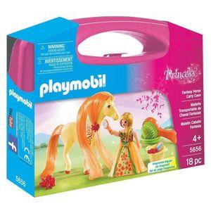 FIGURINE - PERSONNAGE Playmobil Mallette Princesses avec Chevaux