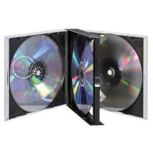 CARTE MÉMOIRE Vivanco  Boîtier double pour CD/DVD Noir für 4 CDs