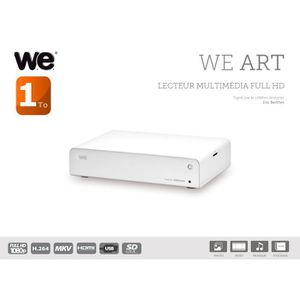 DISQUE DUR EXTERNE We Art Multimedia 1To WE1046
