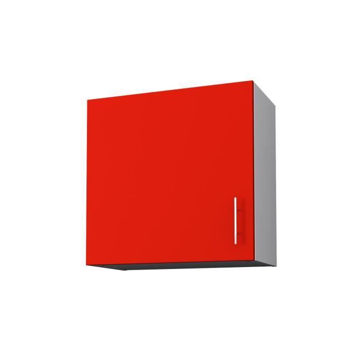 ÉLÉMENTS HAUT OBI Meuble haut de cuisine L 60 cm - Rouge mat
