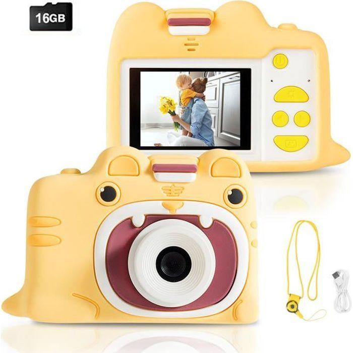 Appareil Photo pour Enfants Numérique 18MP,1080P, Ecran de 2,0 Pouces,Carte TF 16 Go,Coque en Silicone Idéal pour les 3 ~ 10 ans