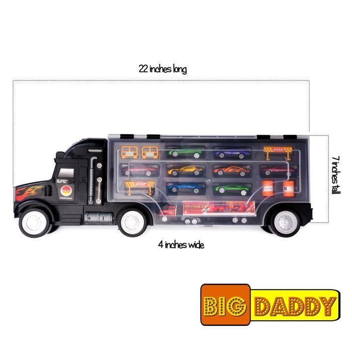 Voiture Electrique DXP67 Big-papa Tracteur Remorque voiture Collection Case Transport Transporteur Jouet Camion
