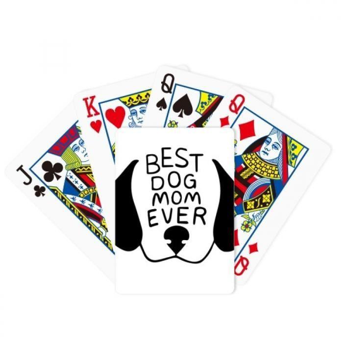 MALETTE - COFFRET POKER meilleur chien mère cite bricolage design jeu de cartes cadeaux sur la table de poker