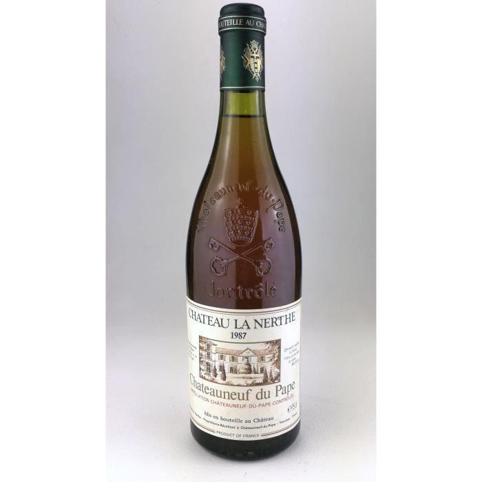 1987 - Chateau la Nerthe blanc - Chateauneuf du Pape (Bouteille 04)