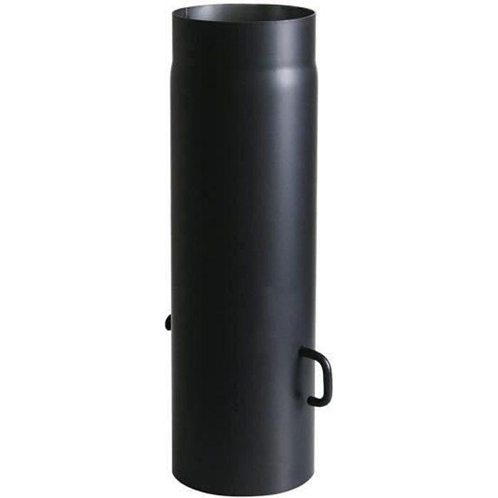 120 mm Coude Chemin/ée Test/é EN-1856-2 Ouverture de Nettoyage Argent/é Coude Chemin/ée 90/° en Acier Alumini/é /à Chaud Kamino-Flam Tuyau de Po/êle Coude /Ø env