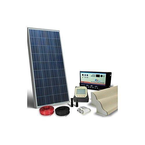 PUNTOENERGIA Italie - Kit Solaire Camper 150 W 12 V Pro Panneau photovoltaïque, régulateur, Accessoires - kcp-150