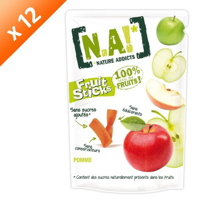 [LOT DE 12] N.A Fruit Sticks Doypack de Pomme - 40 g